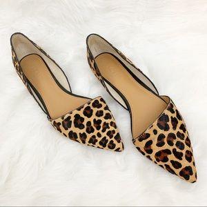 j.crew | leopard calf hair point toe flats (8)